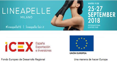 Listado empresas españolas en LINEAPELLE MILÁN Septiembre'18