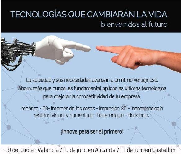 """CEV-Comisión I+D+i: Jornada REDIT """"Tecnologías que cambiarán la vida: bienvenidos al futuro"""""""
